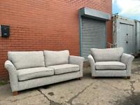 Grey NEXT Sofa set 3 seater & 1.5 cuddle chair delivery 🚚 sofa suite couch