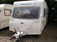 2006 Bailey Ranger 510 4 Berth Side Dinette End Washroom Caravan with MOTOR MOVER and Awning