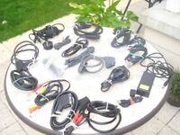 Assorted audio leads