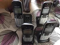 Panasonic Quad Cordless Phones KX-TG6824EB