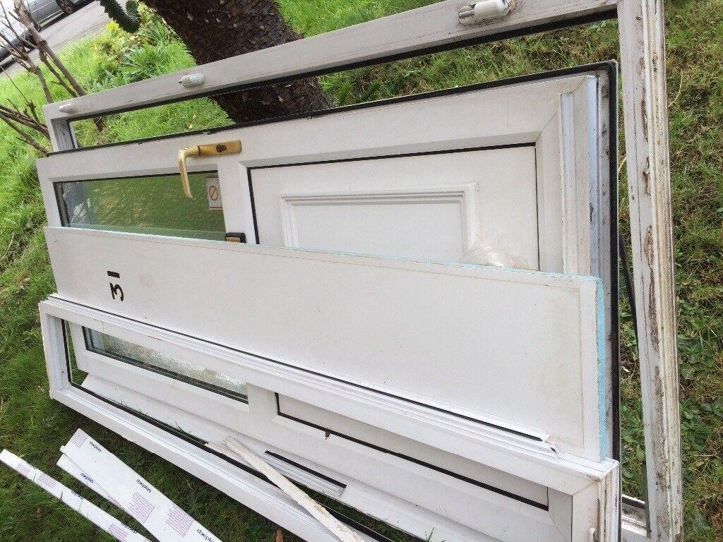 UPVC Double glazed door with side panel. Two keys