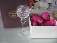 BRIDGE LEAD CRYSTAL GOBLET BY OLD HALL, BOXED