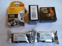 5 Kodak Printer Black ink cartridges - 1 x 10XL 2 x10B (all original) and 2 compatible IJT 10XL
