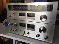 Vintage pioneer SA 606 Amp with matching tuner