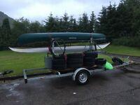 TRAILER: Motiv 2 spar braked canoe trailer with large lockable storage box