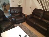 2+1+1 electric recliner sofa and armchairs settee suite Free delivery