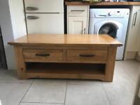 Next Shropshire coffee table solid oak