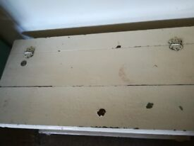Blanket box with ball feet, storage, ideal nursery, baby room. Chest of drawers, bedside cabinet.