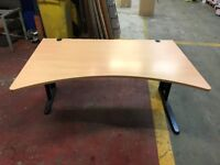 Office furniture - Desk & Table - Light Oak - Workstation - PC computer desk - Curved