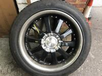"20"" alloy wheels black and crome"