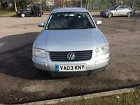 VOLKSWAGEN. PASSAT. 1. 9 SE. TDI. 100. 4DR. MANUAL. DIESEL. 2003(REG 03) LOW MILEAGE GOOD CAR