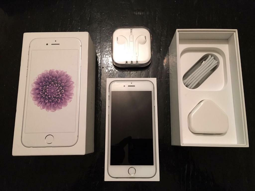 Apple iphone 6 16gb white/silver (unlockedin Bradford, West YorkshireGumtree - Apple iphone 6 16gb white/silver (unlocked) in full working order excellent new condition comes boxed with genuine apple unused new accsessories