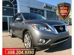 2016 Nissan Pathfinder Platinum| 4WD| DVD Headrest| Leather| Low