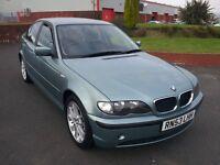 BMW 316 SE, 53 PLATE, METALIC GREEN, 84K MILEAGE, FULL YEARS MOT, LOVELY CAR