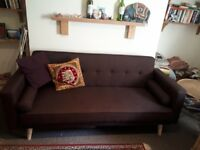 Oslo brown fold out sofa bed
