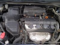 HONDA CIVIC SPORT ENGINE/GEARBOX