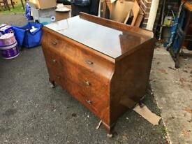 Solid wood glass top cabinet
