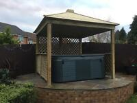 Wooden gazebo brand new free delivery and assembly in West Midlands