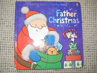 Two Usborne Touchy Feely Hardback Books - Father Christmas and Christmas Mice