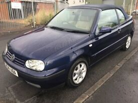 2000 VW Golf 1.6 automatic convertible cabriolet only 73k miles long mot, may px