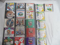 21 pc games discs, educational discs, exact to photos