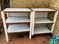 Solid storage shelving garage pantry