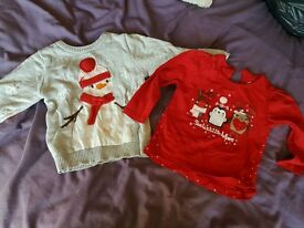 Girls 12-18 months Christmas tops