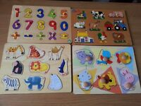 4 x wooden jigsaw puzzles