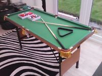 Pool table snooker table dunlop medium size