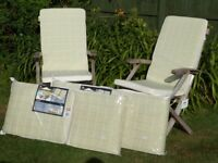 Garden Chair / Seat Cushions New