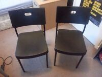 A pair or single black Chairs in Good Condition
