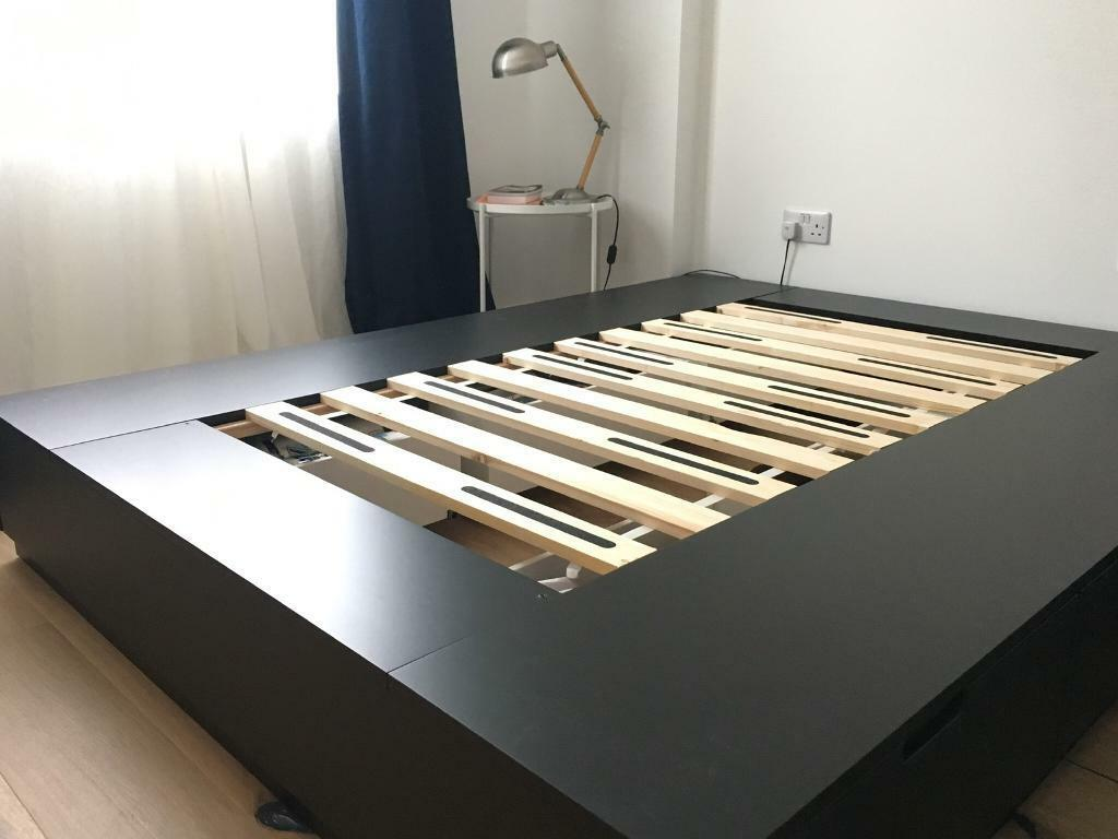 Ikea Nordli Bed Frame With Storage King Size Anthracite Like New In Dalston London Gumtree