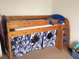 Stompa midsleeper bed with mattress
