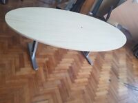 Oval Wood finish Boardroom/conference/meeting/office table 240cm £350