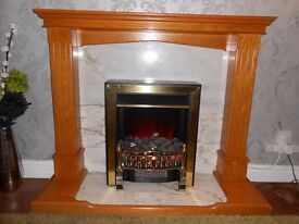 ELECTRIC COAL EFFECT FIRE AND FIREPLACE.