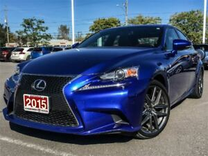 2015 Lexus IS 250 F SPORT 2-NAVIGATION-SUNROOF!