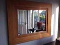 Next Mirror in Oak wood