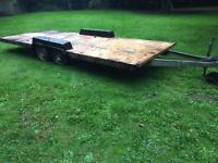 Twin axle, aluminium framed caravan chassis. Ideal Boat/ advertising trailer