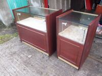 Shop Display Counters x2 very heavy weight 8mm safety glass