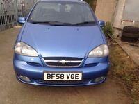 CHEVROLET TACUMA |AUTOMATIC | 2008 | 2.0L | PETROL | 5 DOOR | BLUE | £500.00