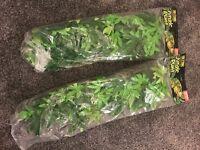 Artificial jungle terrarium plants