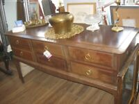 QUALITY 'STAG' CHEST OF DRAWERS / DRESSING TABLE. STURDY