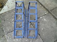 Car Ramps working safely under cars when servicing