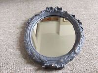 VINTAGE PLASTER FRAMED WALL MIRROR, ORNATE STYLE, SHABBY CHIC, IDEAL UPCYCLE PROJECT