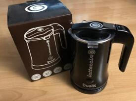Dualit Latticcino Froths & Heats Milk - Makes Instant Coffees Like New In Box - Black