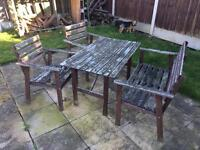 Garden table and chairs - free must be picked up today