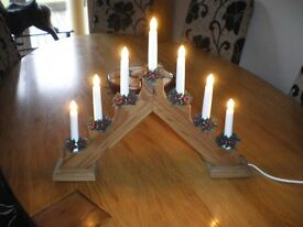 wooden christmas candle arch