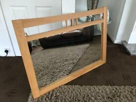 Giant Solid Wood Mirror