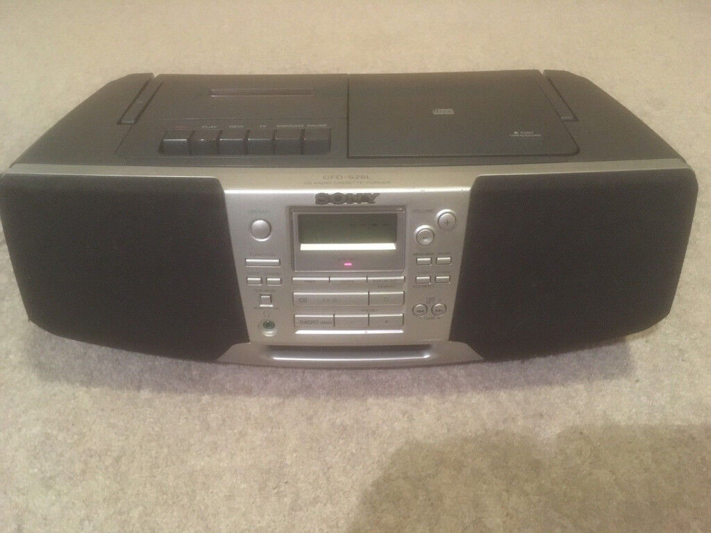 Sony CFD-S28L CD Radio Cassette-Corder Fully Working