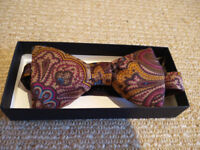 Mens Bow Tie, Paisley Pattern - Brand New